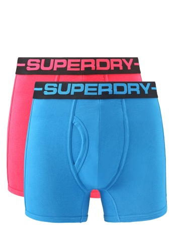 Superdry red and blue Double Pack Sport Boxers 5F23EUS95C07DEGS_1