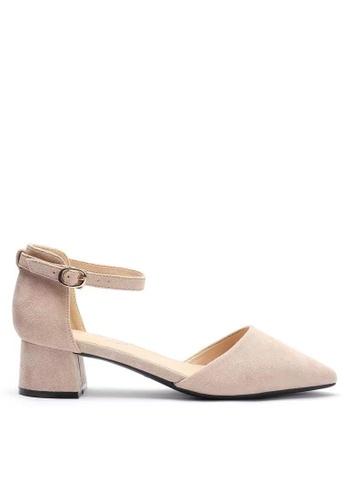 Twenty Eight Shoes 米褐色 尖頭小踭鞋166-8 8D23CSH4ED08ADGS_1