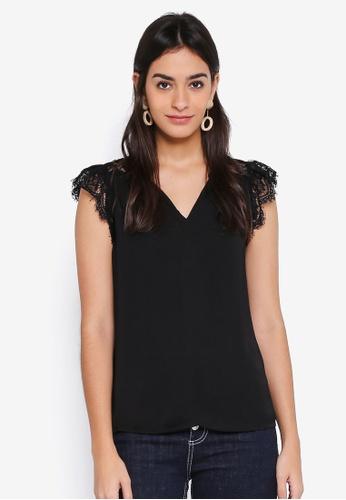 Vero Moda black Rosemary Sleeveless Lace Top CCC46AACBF4F69GS_1