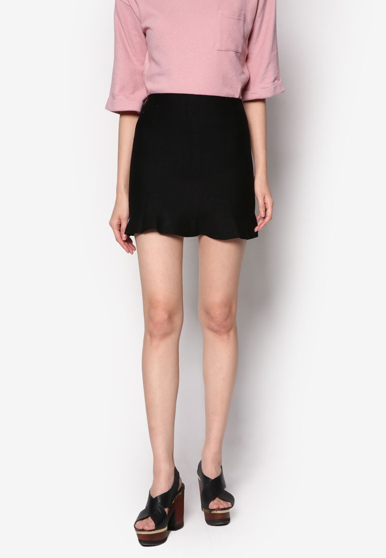Mini Mermaid Skirt in Black