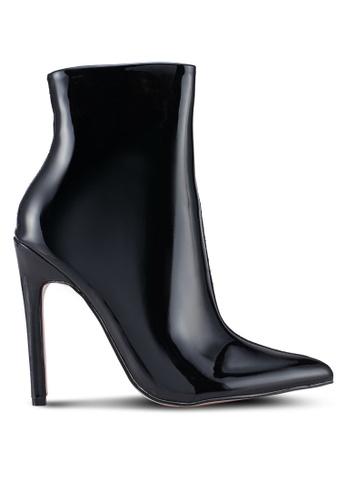Public Desire black Yuri Contrast Stiletto Heel Ankle Boots 25C94SH57A9F73GS_1