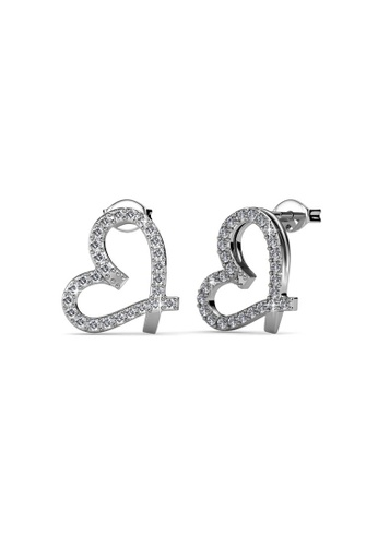 Her Jewellery silver Just Love Earrings - Licensed Genuine Crystals from Swarovski® HE581AC0RVSEMY_1
