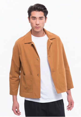 Alpha Style brown Aron Cropped Jacket AL461AA0FVCFSG_1