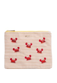 Bijoux Crab On Border Cosmetic Pouch