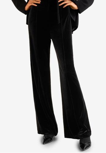 Mango black Flared Velvet Trousers 34389AA9C4BC79GS_1