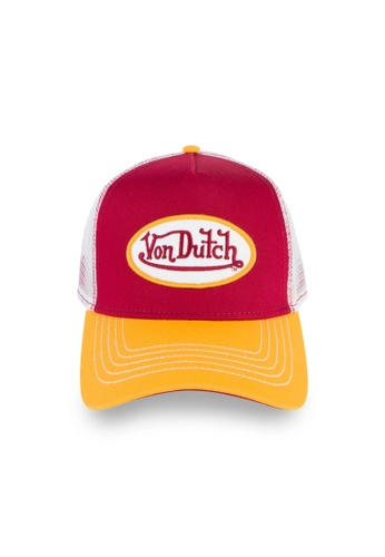 Von Dutch white and red and yellow and multi Von Dutch Red & Yellow Trucker Cap 2A639ACC5249A9GS_1