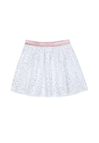 Mothercare grey Mothercare - grey leopard-print mesh skirt 5E959KAF2CDF85GS_1