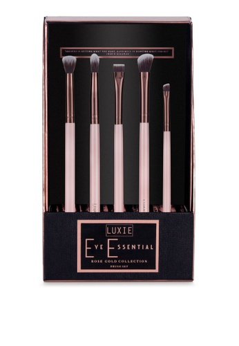 Luxie Beauty pink Rose Gold Piece Eye Essential Brush Set 911DFBEDB72BFAGS_1