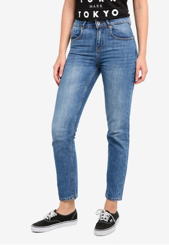 Superdry blue Riley Girlfriend Jeans SU137AA0T21SMY_1