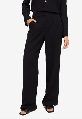 Mango black Flowy Flared Trousers 39751AADFE7931GS_1