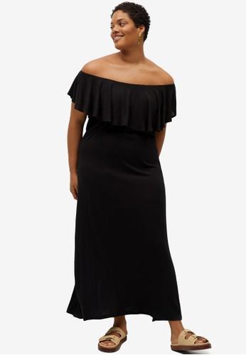 Violeta by MANGO black Plus Size Overlay Dress 17B05AA15744BEGS_1