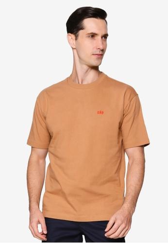 GAP brown Micro Arch Easy Tee 8666EAA91D0BAFGS_1