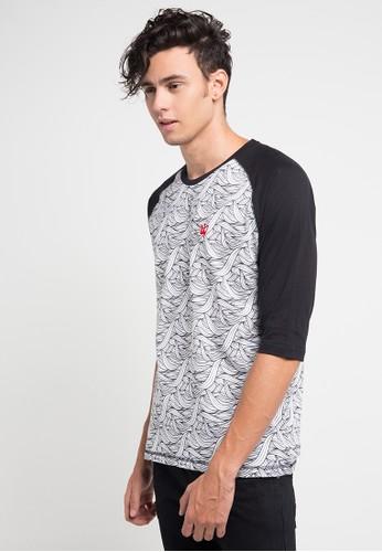 3SECOND black and multi Tshirt 3611 3S395AA0V6AJID_1