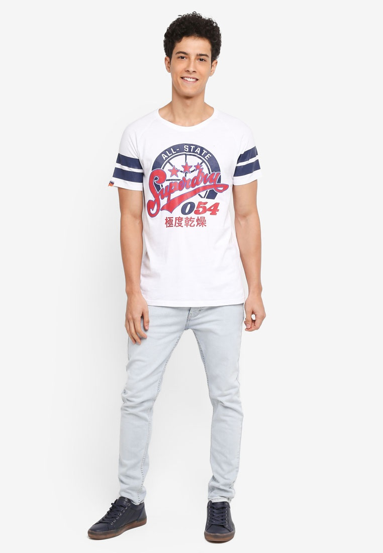 054 League Major Superdry Optic Tee rg5rqOw1