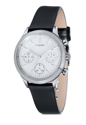 AGNA 多功能皮革圓錶, 錶類, 皮zalora時尚購物網的koumi koumi革錶帶