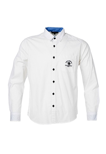Santa Barbara Polo & Racquet Club white SBPRC Long Sleeve Shirt 05-9301-01 474E8AA6B663B4GS_1