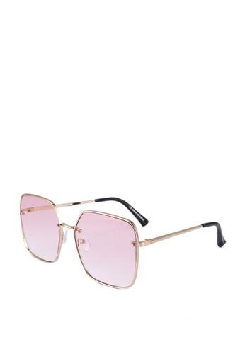 Rubi pink and gold Ivy Square Sunglasses 0A28FGL8A42E38GS_1