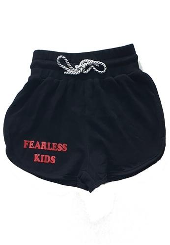 Roses & Rhinos black Fearless Track Shorts- Unisex F6BADKAEA95BE6GS_1
