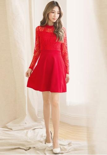 Shop Sesura Lace Queen Flared Dress Online On Zalora