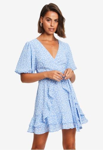 Tussah blue Reanna Mini Dress 4629FAAE72E63EGS_1