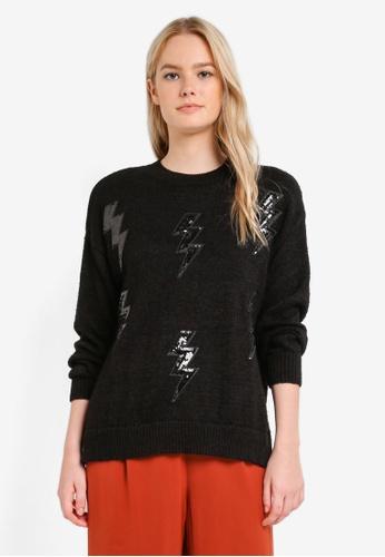 Mango black Thunder Embroidered Jumper MA193AA0RIJ0MY_1