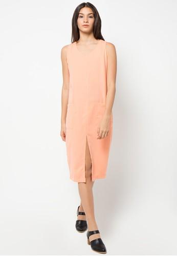 ECLAT APPAREL pink Sleeveless Pocket Dress EC565AA35ZKMID_1