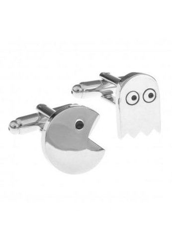 The Little Link Cufflinks silver Pacman and Ghost cufflinks TH089AC0GM21SG_1