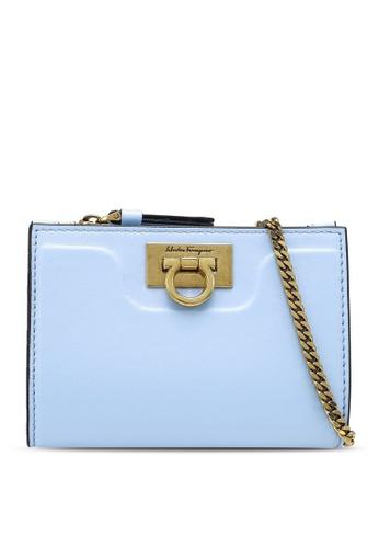 Ferragamo blue Trifolio Chain Wallet (zt) BEFA2AC292552AGS_1