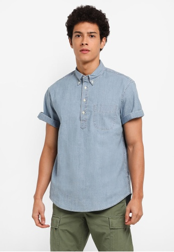 J.Crew blue Stretch Popover Chambray FCCBAAAC8A57DAGS_1