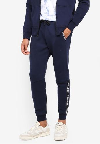 Hollister navy Skinny Logo Sweatpants CDDA9AA82DEE22GS_1