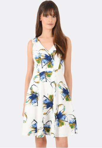 FORCAST white Kinsley A-Line Dress FO347AA0GFZCSG_1