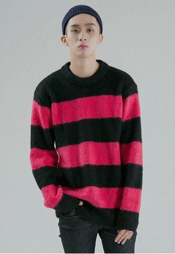 esprit retail條紋羊毛針織上衣, 服飾, 外套