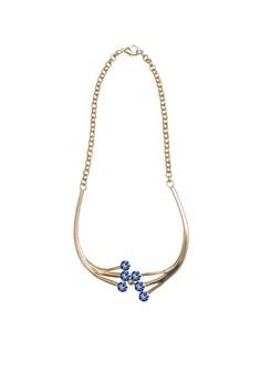 Lumière Bleu Petite Beau Necklace