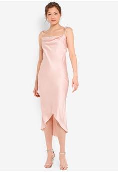 95ee06d6b016 Miss Selfridge Petite Satin Tie Midi Dress RM 279.00. Sizes 6 8 10 12 14