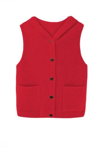 Twenty Eight Shoes red VANSA Imitation Mink Vest Jacket  VCW-V7706 70C2EAAB1B6F49GS_1
