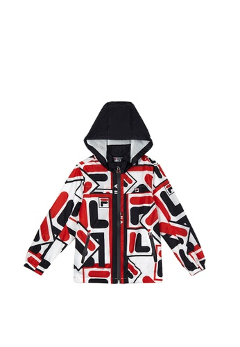 FILA red FILA KIDS All Over F-box Logo Hooded Jacket 6-9yrs 6C24EKAACDE403GS_1