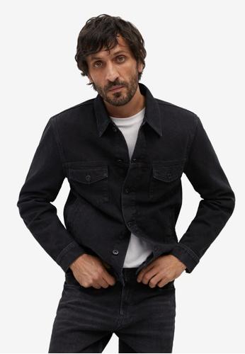 Mango Man black Black Denim Jacket 71112AA3BF76CCGS_1