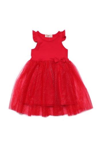 Mini Moley red Glitter Bubble Dress D7D8CKACBD299CGS_1