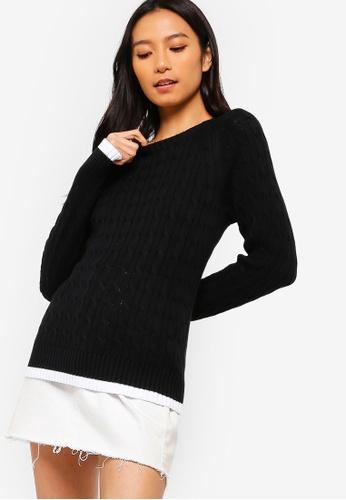 10d58024cd Calvin Klein black Cable Sweater - Calvin Klein Jeans 274BFAA98AA09DGS 1