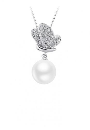 OUXI silver OUXI Pearl Necklace 11312 OU821AC05MZMMY_1