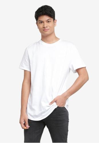 H&M white T-Shirt Long Fit E67F6AAEBE3340GS_1