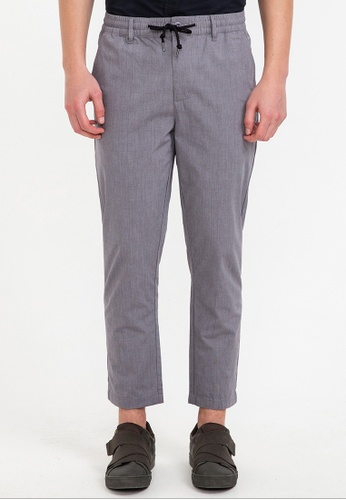 Bossini grey Check Ankle Length Pants 75D2EAA8E1DE10GS_1