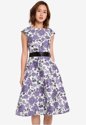 Megane purple Red Romance Nanon Floral Dress ME617AA0SZX5MY_1