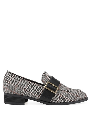 SPUR black CHECKED BELT LOAFER 8E325SHE9E66A5GS_1