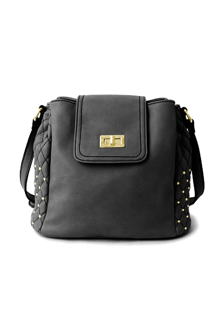 Quilted Gems Sparkly Bucket Bag