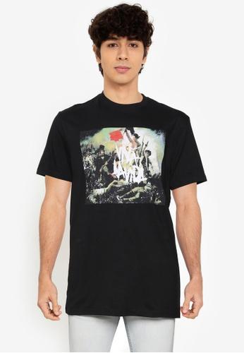 Springfield black Coldplay T-Shirt ED75DAA1CDE84CGS_1