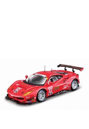 bburago red Bburago 1.43 Ferrari Racing Asst - 488 GTE 2017 Red 2BC80TH22E1FC1GS_1