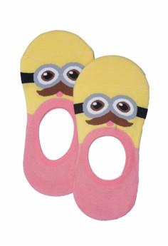 Sunny Character Light Pink Foot Socks