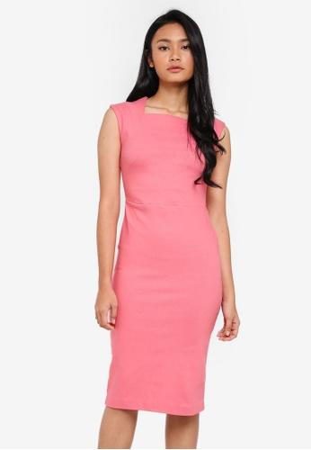 Dorothy Perkins pink Rose Cap Sleeve Dress 114DDAAD48EE15GS_1