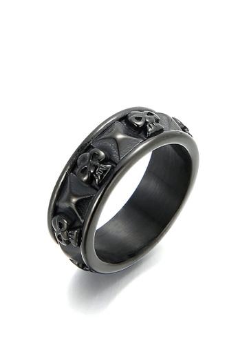 HAPPY FRIDAYS Skull Titanium Steel Ring KL101262 65847AC319919BGS_1